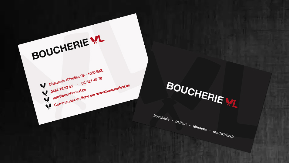 Carte de visite - Boucherie XL